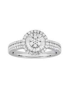jewellery: 9KT White Gold Diamond Ring C189!
