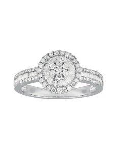 jewellery: 9KT White Gold Diamond Ring C195!