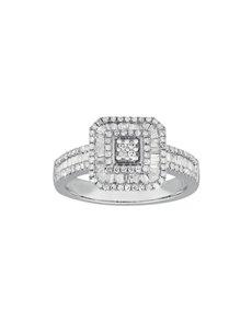 jewellery: 9KT White Gold Diamond Ring C196!