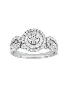 jewellery: 9KT White Gold Diamond Ring C197!