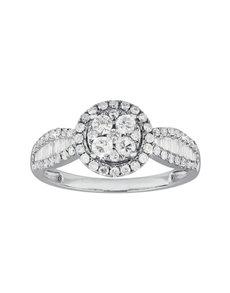 jewellery: 9KT White Gold Diamond Ring C198!