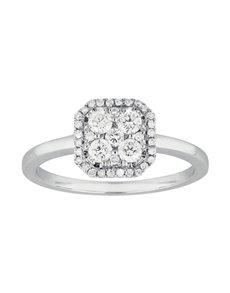 jewellery: Square Solitaire White Gold Diamond Ring!