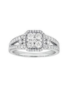 jewellery: Square Millenium Paved Diamond Ring!