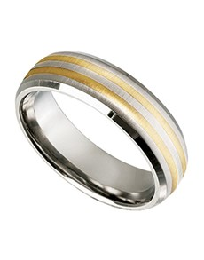 jewellery: Titanium  Gents ring  with gold inlay!
