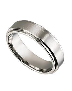 jewellery: Titanium Gents ring with raised center!