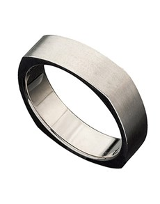 jewellery: Titanium Gents ring with square sides!