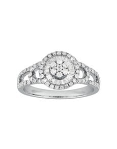 jewellery: Classic Round White Gold Diamond Ring!