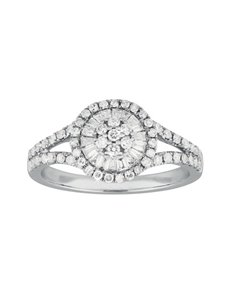 jewellery: Round Millenium White Gold Diamond Ring!