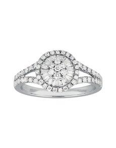 jewellery: Round Millenium White Gold Diamond Ring!