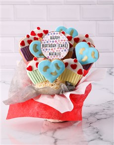 bakery: Personalised Birthday Cupcake Cookie Bouquet!