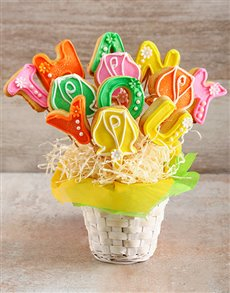 gifts: Thank You Flowers Cookie Bouquet!