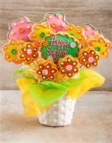 gifts: Spring Flowers Cookie Bouquet!