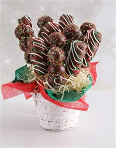 gifts: Christmas Marshmallow and Doughnut Bite Bouquet!