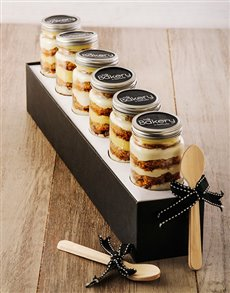 Picture of 6 Banana Honey Cupcakes in a Jar!