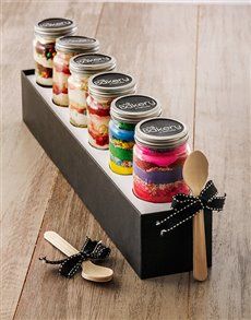 bakery: 6 Birthday Combo Cupcake Jars!