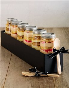 bakery: 6 Turkish Delight and Pineapple Cupcake Jar Combo!