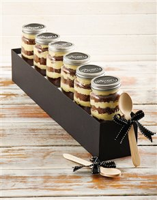 bakery: 6 White Lindt Chocolate Cupcakes in a Jar!