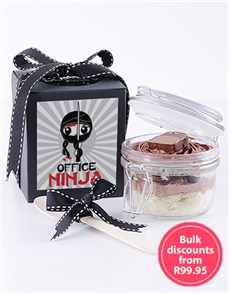 gifts: Office Ninja Bar One Cupcake Jar!