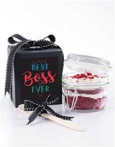 bakery: Best Boss Red Velvet Cupcake Jar!