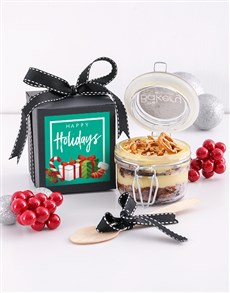 gifts: Single Happy Holidays Fruit Cake Jar!