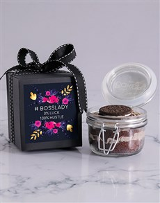bakery: Bosses Day Cookies and Cream Cupcake Jar!