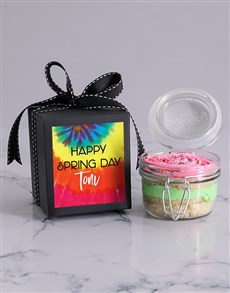 gifts: Personalised Fruity Rainbow Spring Cupcake Jar!