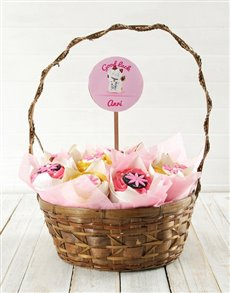 bakery: Personalised Floral Good luck Cupcake Bouquet!