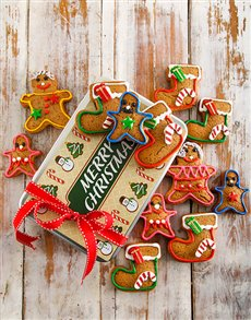 bakery: Gingerbread Family Christmas Cookie Tin!
