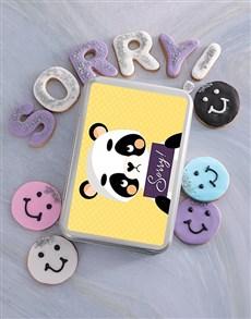 flowers: Sorry Panda Cookie Tin!