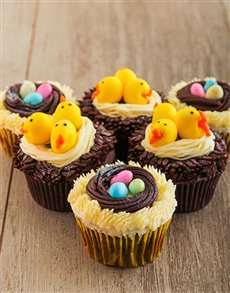 gifts: Chicks and Eggs in a Nest Easter Cupcake Combo!