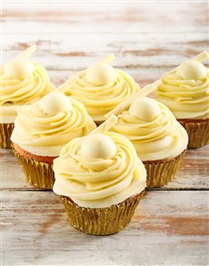 bakery: White Lindt Chocolate Cupcakes !