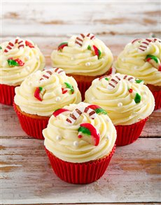 bakery: Vanilla Candy Cane Cupcakes!