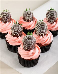 bakery: Strawberry Cream Chocolate Cupcakes!