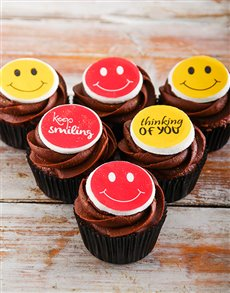 bakery: Keep Smiling Chocolate Cupcakes!
