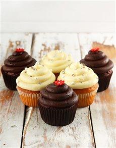 gifts: Chocolate and Vanilla Cupcake Combo!