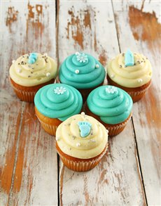 Picture of Baby Boy Cupcakes!