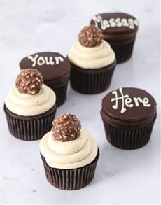 bakery: Ferrero Rocher Luxury Cupcakes!