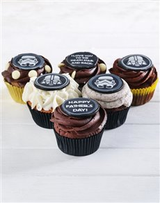 bakery: Star Wars Fathers Day Chocolate Cupcakes !