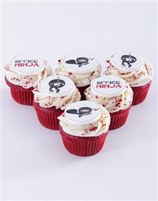 gifts: Office Ninja Red Velvet Cupcakes!