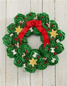 bakery: Festive Cupcake Pull Away Wreath!
