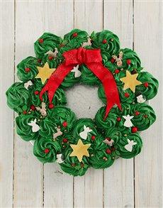 bakery: Festive Cupcake Pull Away Wreath!