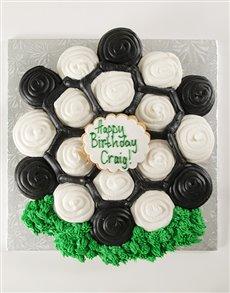 bakery: Soccer Themed Pull Apart Cupcake Cake!