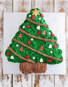 bakery: Christmas Tree Pull Apart Cupcake Cake!