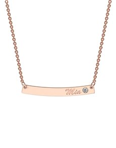 jewellery: MeMi Curve Classic Bar Personalised Necklace!