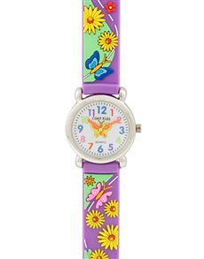 watches: Cool Kids 3 D Purple Butterfly !