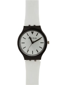 watches: Cool Kids White Slim Plastic Watch!