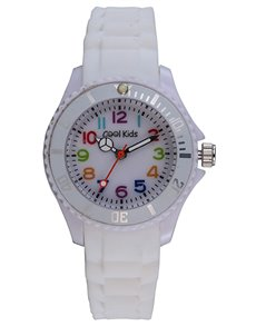 watches: Cool Kids White Analogue Neon Resin Watch!