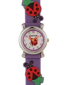 watches: Cool Kids Purple 3 D Ladybugs Watch !