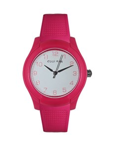 watches: Cool Kids White Dial Pink Soda Watch!