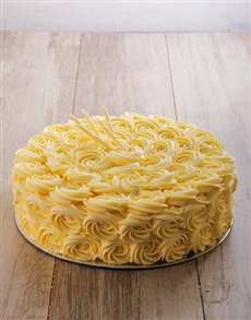 bakery: Soft vanilla cake with vanilla butter cream 30cm!